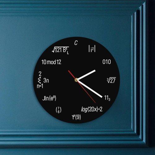 geek wall clock equation math gadget