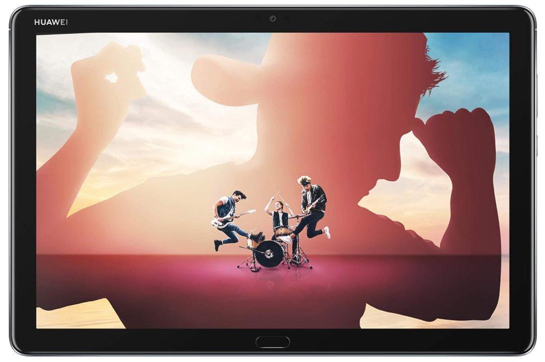 """HUAWEI - 53010DHX - MediaPad M5 lite 10 Wi-Fi Tablette Tactile 10.1"""" Gris (32Go, 3Go de RAM, Android 8.0, Bluetooth, Quatre haut-parleurs)"""