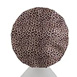 Dilly's Collections Luxury Shower Caps For Women - Triple Layer Bath Cap - Reusable - Leopard Design