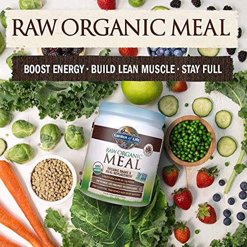Garden of Life Raw Organic Meal Replacement Powder - Chocolate, 14 Servings, 20g Plant Based Protein Powder, Superfoods, Greens Vitamins Minerals Probiotics Enzymes, All-in-One Meal Replacement Shake 9