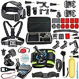 SmilePowo Outdoor Sports Camera Accessories for GoPro Hero 5 / Session 6/5/4/3/2/1,AKASO EK7000,EK5000,SJCAM,DBPOWER,xiaomi YI,Carrying Case,Camera Bundle (51-in-1)