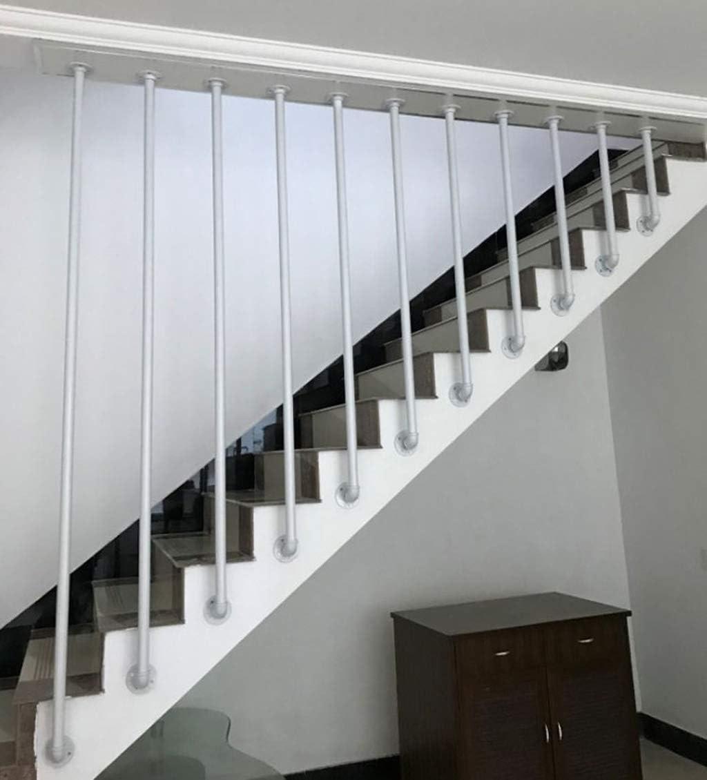 Amazon Com Yude L White Wrought Iron Stair Handrail Round   Wrought Iron Stair Railing   Diy   Staircase   Simple   Silver   Horizontal