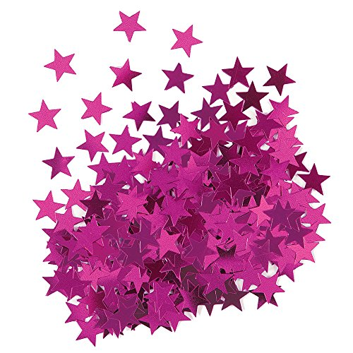 Metallic Pink Star Confetti