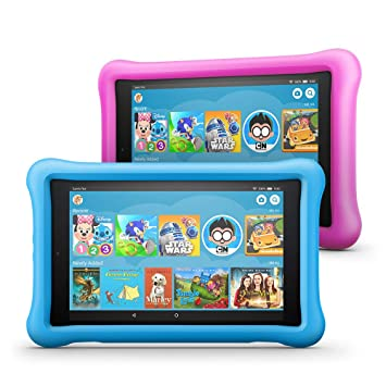 "All-New Fire HD 8 Kids Edition Tablet 2-Pack, 8"" HD Display, 32 GB, Kid-Proof Case - Blue/Pink"