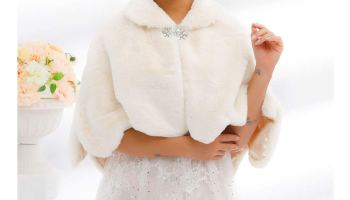 Unicra Women's Faux Fur Shawls and Wraps Wedding Bridal Faux Fur