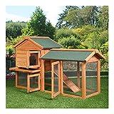 58' Chicken Coop Backyard Hen Wooden Rabbit House Wood Hutch w/Run