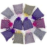 15 Mix Color Lavender Sachets Filled with French Lavender Flower Buds - Natural Deodorizer - Premium Ultra Blue Lavender Flower Buds - by Lavande Sur Terre