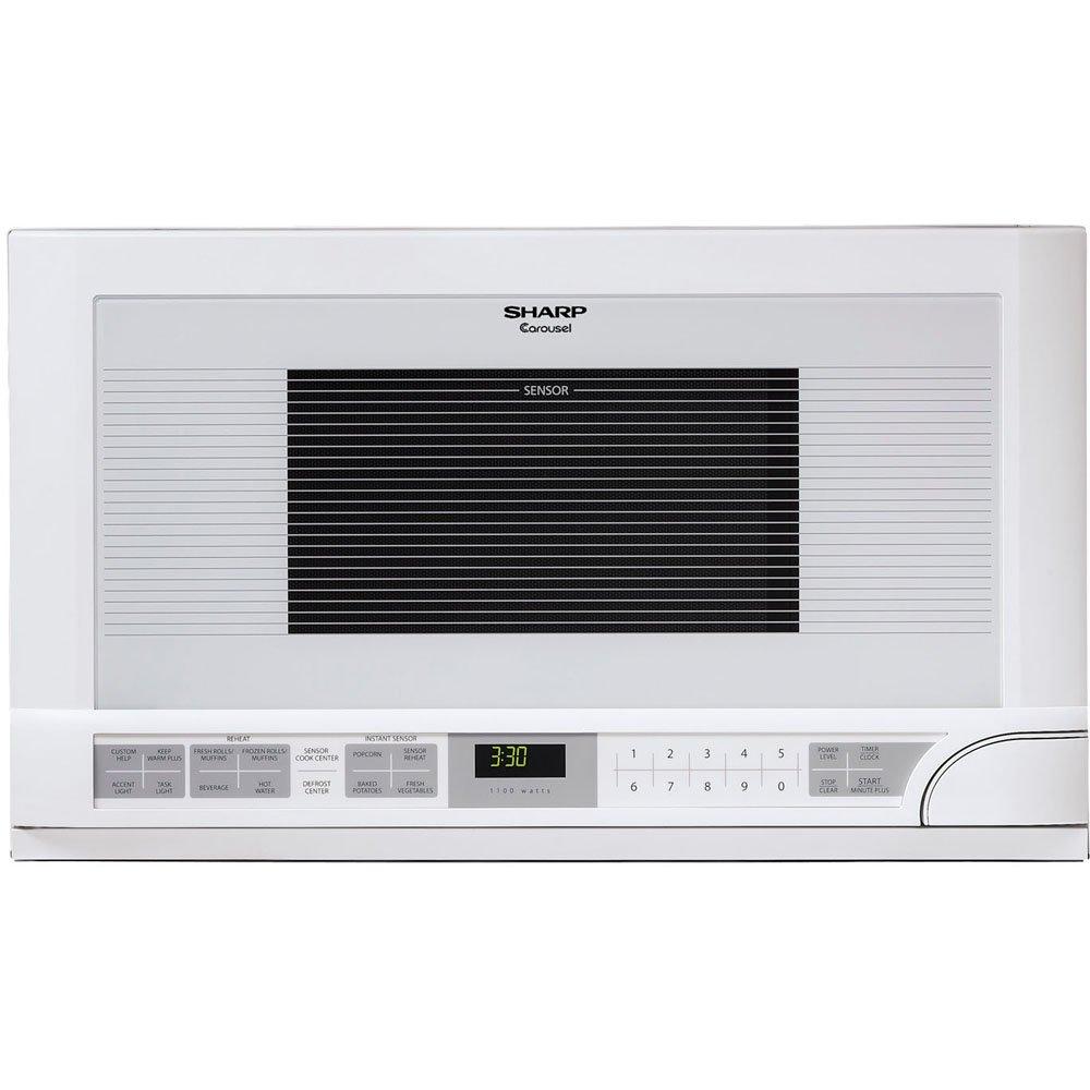 Sharp R-1211 1-1/2-Cubic-Feet 1100-Watt Over-the-Counter Microwave