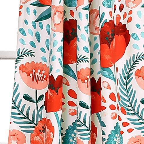 Lush Poppy Garden Curtains