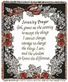 Simply Home The Serenity Prayer Religious Afghan Throw Blanket 48' x 60' SKU 269