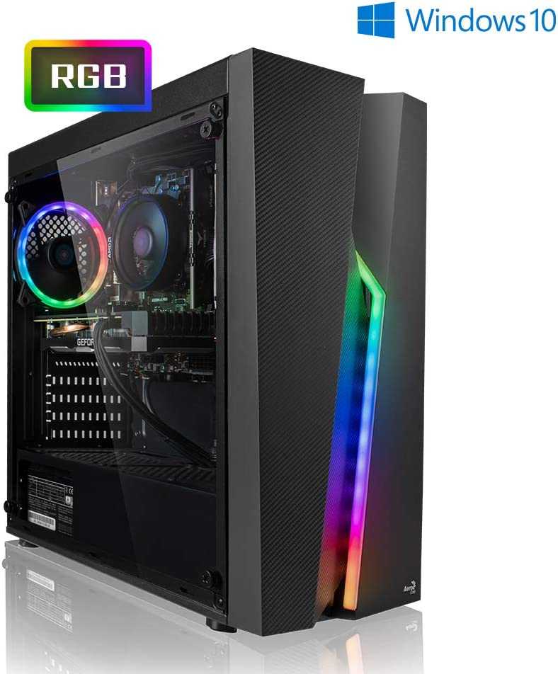 Megaport PC Gamer Vector AMD Ryzen 5 2600 6x3.40 GHz • GeForce GTX1660 • 16Go RAM • 1To • Windows 10 Home • Unité Centrale Ordinateur de Bureau PC Gaming PC Ordinateur Gamer