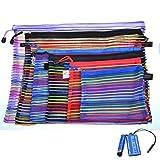 Nakimo Random Color Mesh Multipurpose Travel Storage Organizer Bag, set of 6pcs
