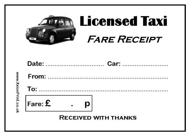 Taxi Receipt Template Free Download
