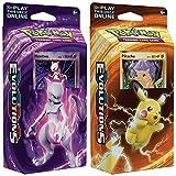 Pokemon Mewtwo & Pikachu XY Evolutions TCG Card Game Decks - 60 Cards Each