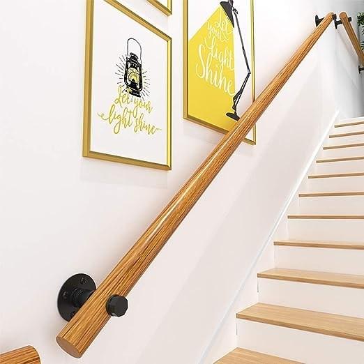 Amazon Com Handrail Non Slip Wood Handrails For Indoor Stairs | Wall Handrails For Stairs | Timber | Recessed | White | Contemporary | Antique