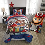 Super Mario Bros Full Comforter, Sheets + BONUS SHAM (6 Piece Bed In A Bag) + HOMEMADE WAX MELTS