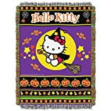 SANRIO Hello Kitty, 'Witchy Kitty' Woven Tapestry Throw Blanket, 48' x 60', Multi Color