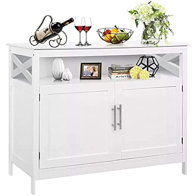 Buy Double Door Side Cabinet With Partition Kitchen Sideboard Storage Cabinet Multi Functional Buffet Cabinet Modern Dining Storage Server In Kitchen Dining Room Living Room Online In Canada B0953fgz77