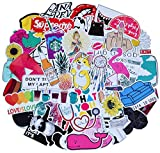Cute Laptop Stickers for Teen Girl, 45 Pcs/Pack Cartoon Waterproof Vinyl Water Bottle Computer Notebook Car Skateboard Motorcycle Bicycle Luggage Guitar Bike Decal (Style - E)