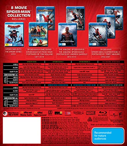 Spider-man-8-MOVIE-PACK-Collection-Box-Set-Blu-ray-Into-The-Spider-Verse-Far-From-Home-Homecoming-Amazing-Spider-man-1-2-Spider-man-1-2-3