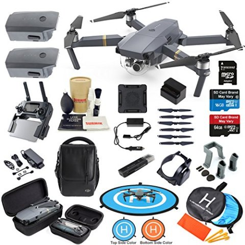 864d7fb709d DJI Mavic Pro Drone Quadcopter Fly More Combo with 3 Batteries, 4K  Professional Camera Gimbal Bundle Kit with Must Have