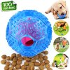 CHLEBEM Interactive Dog Toys, Dog Chew Toys Ball for Small Medium Dogs, IQ Treat Boredom Food Dispensing, Puzzle Puppy Pals Tough Durable Rubber Pet Ball, Best Cleans Teeth Dog Balls 2