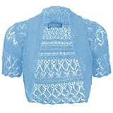 Product review of Thever Women Ladies Knitted Short Sleeve Crochet Shrug Bolero Cardigan SZ 8-26