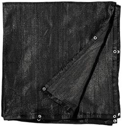 FenceSmart4U-6-X-12-Black-UV-Rated-Dog-Kennel-Shade-Cover-Sunblock-Shade-Panel-Shade-Tarp-Panel-WGrommets-Not-the-kennel