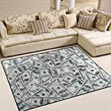 ALAZA Funny Dollar Money Area Rug Rugs for Living Room Bedroom 5'3 x 4'