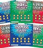 FMPLT- Fake Joke Prank Lottery Tickets Scratch Off - All Win $50,000 - The Ultimate Prank (Multi-Pack A)