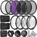 52MM Complete Lens Filter Accessory Kit (UV, CPL, FLD, ND2, ND4, ND8 and Macro Lens Set) for Nikon D3300 D3200 D3100 D3000 D5300 D5200 D5100 D5000 D7100 D7000 DSLR Camera
