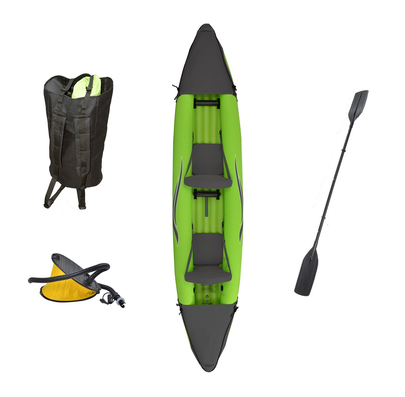 Outdoor Tuff Stinger 4 OTF-4252PK Inflatable Two-Person Sport Kayak