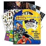 DC Comics Justice League Stickers Coloring Activity Set & Bonus Superhero Pop Art Sticker ~ Featuring Wonder Woman, Superman, Batman, The Flash, Green Lantern, Hawkwoman and many mor