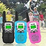 Walkie Talkies, Duyoi Kids Walkie Talkies 3 Packs 3 Miles Range with LCD Screen Flashlight Walkie Talkies for kids Toy Camping Hiking Outdoor Adventures