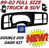 99 00 01 02 Silverado Sierra Suburban Yukon Tahoe Avalance Double Din Dash Kit Full Size Gm Truck Suv Car Stereo Radio Cd Dvd Nav Navigation Video Install Installation Bezel