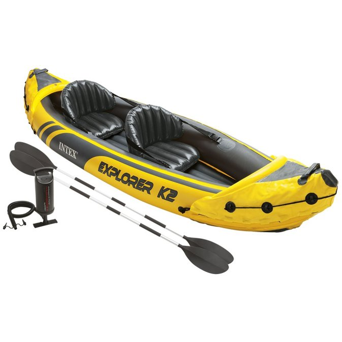 Intex Explorer K2 Kayak, 2, Person Inflatable Kayak