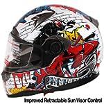 IV2 Helmets JX-F01 Series, Full Face, Dual Visor Motorcycle Helmet