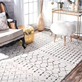nuLOOM Moroccan Blythe Area Rug, 8' x 10', Grey/Off-white