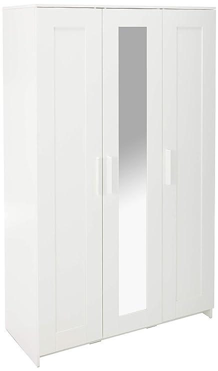 Ikea Brimnes Home Bedroom Wardrobeswardrobe With 3 Doors White 10394718 46x74 34 Multicolor