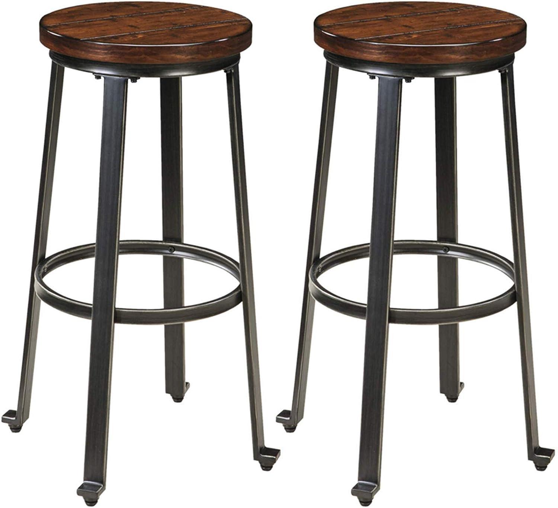 Amazon Com Signature Design By Ashley Challiman Bar Height Bar Stool Rustic Brown Furniture Decor