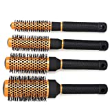 CCbeauty Professional Roller Hair Brush Round Set Detangling Nylon Bristles,Barber Supplies Comb Set for Hair Blow Drying,Styling,Curling,Massage Comb The Hair and Scalp