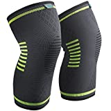 Knee Brace Support for Men and Women Compression Sleeves, 1 Pair FDA Registered Wraps Pads for Arthritis, ACL, Running, Pain Relief, Injury Recovery, Basketball and More Sports, Small