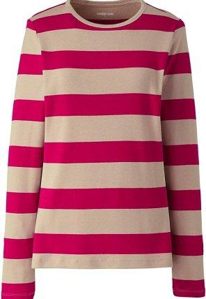 Lands' End Women's All Cotton Long Sleeve Crewneck T-Shirt
