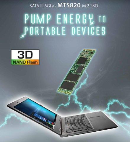 Transcend 3D TLC NAND採用 SSD 480GB M.2 2280 SATA III 6Gb/s 3年保証 TS480GMTS820S