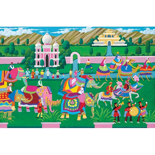 Mega Puzzles: Hometown Collection 1000 piece Elephant Festival Puzzle