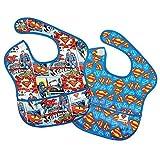 Bumkins DC Comics 2-Pack Superman Comic/Allover Logo SuperBib