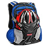 Arltb 20L Bike Backpack with Helmet Storage (2 Colors) Cycling Hiking Travel Daypack Waterproof Motorcycle Backpack Lightweight Motorcycle Helmet Bag for Cycling Running Hiking Camping (Red)