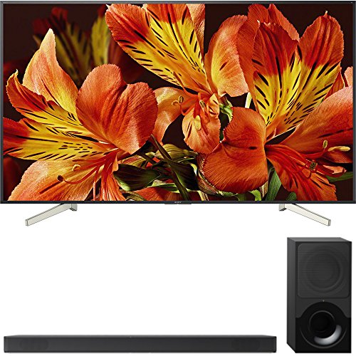"Sony Bravia XBR85X850F 85"" 4K HDR10 HLG Triluminos Android LCD TV with Google Assistant 3840x2160 + Sony HTX9000F 2.1Ch 4K HDR Compatible Dolby Atmos Soundbar with Bluetooth"