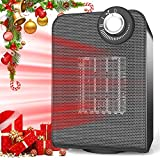 Space Heater for Office, Personal Portable Silent Small Room Quiet Heater, Energy Efficient 1000/1500W Heater Auto Oscillating with Thermostat Control