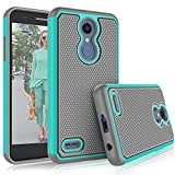 Tekcoo LG K30 / LG Harmony 2 Case, LG K30 Plus/LG Phoenix Plus/LG Premier Pro LTE Cute Case, [Tmajor] Shock Absorbing [Turquoise] Rubber Silicone Plastic Scratch Resistant Sturdy Grip Hard Cases Cover